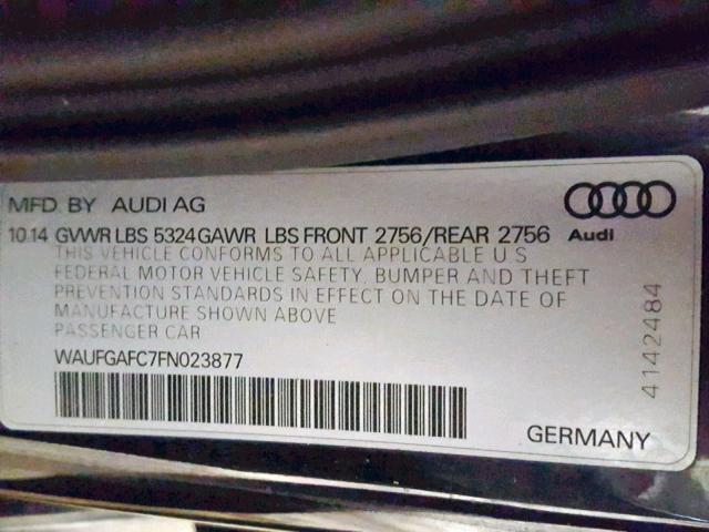 2015 AUDI A6 PREMIUM PLUS full